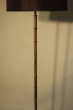 1950`s French brown/black metal bamboo floor lamp - picture 2