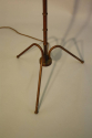 1950`s French brown/black metal bamboo floor lamp - picture 3