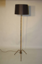 1950`s French brown/black metal bamboo floor lamp - picture 4