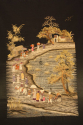 A very unusual black silk Chinese embroidery, - picture 1