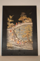 A very unusual black silk Chinese embroidery, - picture 2