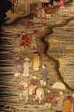 A very unusual black silk Chinese embroidery, - picture 4