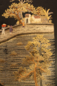 A very unusual black silk Chinese embroidery, - picture 5