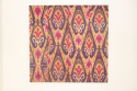 C19th silk Ikat panel from Uzbekistan with rams horn motifs - picture 1