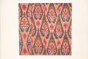 C19th silk Ikat panel from Uzbekistan with rams horn motifs - picture 2