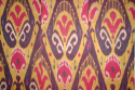 C19th silk Ikat panel from Uzbekistan with rams horn motifs - picture 3