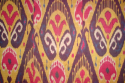 C19th silk Ikat panel from Uzbekistan with rams horn motifs - picture 4