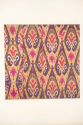 C19th silk Ikat panel from Uzbekistan with rams horn motifs - picture 5