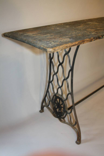 Victorian sewing machine long table/console