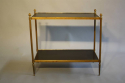 Two tier gilt metal and wood side table with acorn finials, French c1950. - picture 2