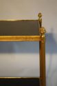 Two tier gilt metal and wood side table with acorn finials, French c1950. - picture 3