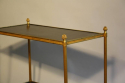 Two tier gilt metal and wood side table with acorn finials, French c1950. - picture 4