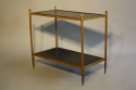 Two tier gilt metal and wood side table with acorn finials, French c1950. - picture 5