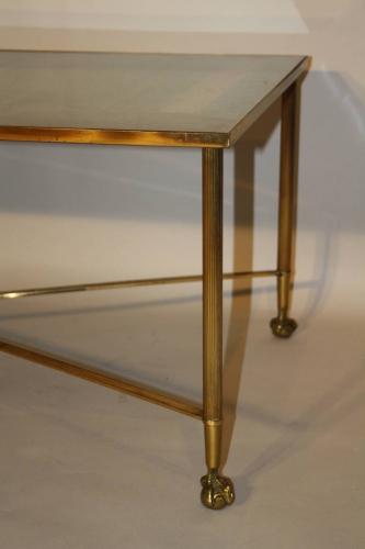 Ball and claw and mirror rectangular coffee table
