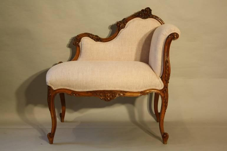 carved wood petite chaise in furniture. Black Bedroom Furniture Sets. Home Design Ideas