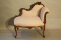 Carved wood petite chaise - picture 2