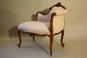 Carved wood petite chaise - picture 4