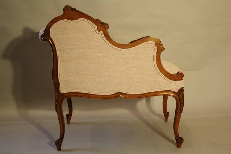 carved wood petite chaise in furniture