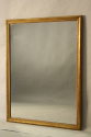 French C19th antique mercury glass overmantle mirror. - picture 1