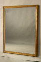 French C19th antique mercury glass overmantle mirror. - picture 2