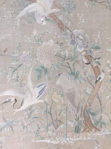C19th hand embroidered silk