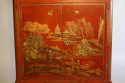 A 1920`s red chinoiserie tall cabinet - picture 2