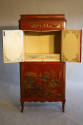 A 1920`s red chinoiserie tall cabinet - picture 3