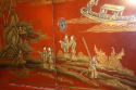 A 1920`s red chinoiserie tall cabinet - picture 8