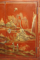 A 1920`s red chinoiserie tall cabinet - picture 9