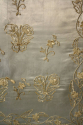 A blue silk silver hand stitched textile, French c1890 - picture 5
