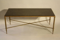 A fossil marble top table on bronze base, French c1950 - picture 1