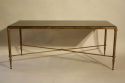 A fossil marble top table on bronze base, French c1950 - picture 2