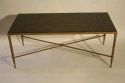 A fossil marble top table on bronze base, French c1950 - picture 5