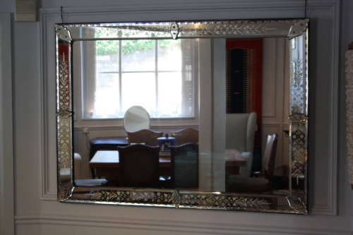 Antique Venetian rectangular mirror