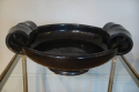 Vallauris brown glazed bowl, French c1950 - picture 3
