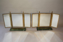 A pair of Art Deco style gilt brass triptych dressing table mirrors - picture 2