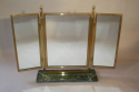 A pair of Art Deco style gilt brass triptych dressing table mirrors - picture 3