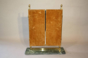 A pair of Art Deco style gilt brass triptych dressing table mirrors - picture 4