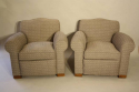 A pair of French 1930`s club chairs - picture 1