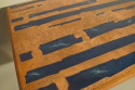 Rosewood, copper and blue resin table, Danish c1960 - picture 5