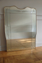 Sectional overmantle mirror with bubble glass detail, attributed to Gio Ponti. Italian c1950 - picture 1