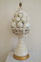 Cream glazed ceramic table lamp, of fruit, Italian c1940 - picture 1