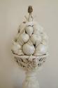 Cream glazed ceramic table lamp, of fruit, Italian c1940 - picture 2