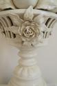 Cream glazed ceramic table lamp, of fruit, Italian c1940 - picture 3