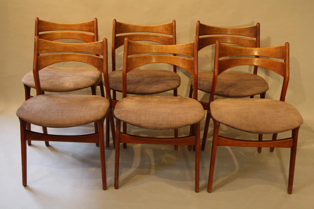 6 x Erik Buch Danish dining chairs