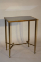 Gilt metal table with grey mirror glass top, French c1950 - picture 1