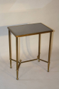 Gilt metal table with grey mirror glass top, French c1950 - picture 2