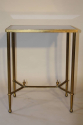 Gilt metal table with grey mirror glass top, French c1950 - picture 3