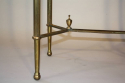 Gilt metal table with grey mirror glass top, French c1950 - picture 4