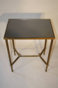 Gilt metal table with grey mirror glass top, French c1950 - picture 5